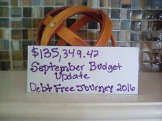 September budget update.. Debt free journey 2016