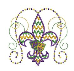 Hey, I found this really awesome Etsy listing at http://www.etsy.com/listing/175201126/mardi-gras-chevron-fleur-de-lis
