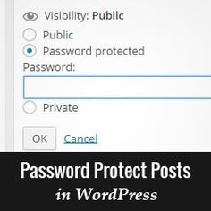 Ever wanted to write private posts or password protect posts to share them with family or friends? Learn how to password protect posts in WordPress.