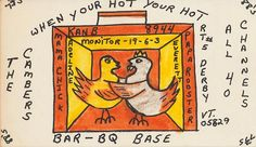 73sand88s: Mama Chick & Papa Rooster at Bar-BQ Base -...