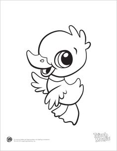 learning friends duck baby animal coloring printable from leapfrog the learning friends prepare kids for - Drawings For Children To Color