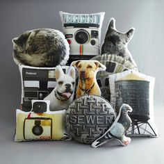 fun custom printed photo pillows