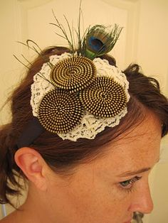 Shannon Makes Stuff: Zipper Flower and Feather Headband