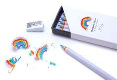 Rainbow pencils! Love these.