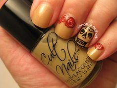 Skull and Roses Inspired by Robin Moses With Cult Nails Mazo #CultNails #JointheCult