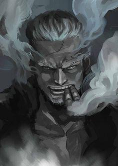 Tags: Anime, Smoking, ONE PIECE, Marine (ONE PIECE), Smoker (ONE PIECE), Cigar, Smoke