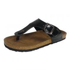 Stoney River Women's Patent Corkbed Sandals w/Buckle - Black - Mills Fleet  Farm