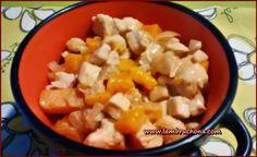 Pechuga de pollo con calabaza en leche de coco. Lambruchona