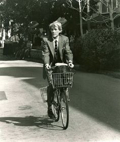 Peter O'Toole rides a bike. This makes us love him EVEN more.