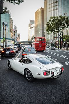 Toyota 2000GT :::  This is, hands down, the most beautiful Toyota you will ever see.  EVER.
