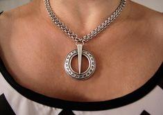 Fashion Necklace, Fashion Jewelry, Women Jewelry, Handmade Jewelry Designs, Viking Jewelry, Fantasy Jewelry, Brass Chain, Pagan, Handmade Silver