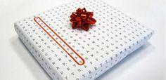 A criatividade rolando solta. E se você deixar uma mensagem no embrulho do seu presente?