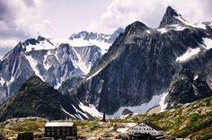 Great St Bernard Pass Valais Switzerland  #village #bernard #pass #valais #switzerland #photography