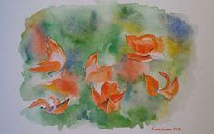 Buy Palash - flame of the forest, Watercolor by Geeta Biswas on Artfinder. #palash #flameofforest #flowers #floralart #stilllife #watercolor #aquarelle #geetabiswas #emergingartist #contemporaryart #tropicalflower #springflowers #indian #originalart