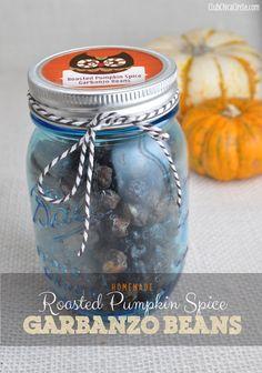 Roasted Pumpkin Spice Garbanzo Beans by Club Chica Circle.