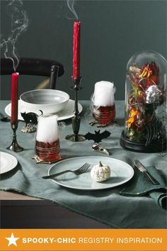 Just moved into a new home? What better way to celebrate than throwing a spooky-chic Halloween party! Fill your registry with hauntingly beautiful dinnerware, glassware from Mikasa, table accessories, candlesticks and more. Head to macys.com now to add them to your list and really impress your guests!