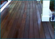 We really need to restore the deck in our back yard. I love how shiny this wood looks, and it's amazing to see how much difference there was to the before pictures. Our deck is about 10 years old, and the wood has really started to wear away after all of that time.