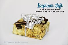 Treasure hunt baptism talk - baptism gift key and compass with map