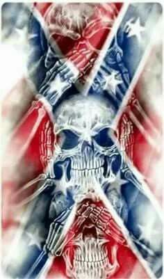 Southern Pride Southern heritage proud of and love my heritage and not ashamed to show and speak of it Southern Heritage, Southern Pride, Southern Style, Skull Pictures, Cool Pictures, Rebel Flag Tattoos, Totenkopf Tattoos, Skull Wallpaper, Tatoo