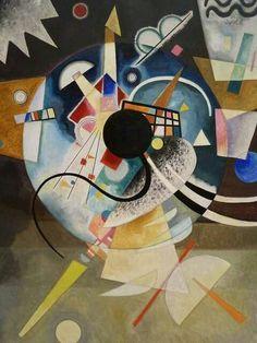 Wassily Kandinsky - One Center, 1924. ◉ [Gemeentemuseum Den Haag, Netherlands]