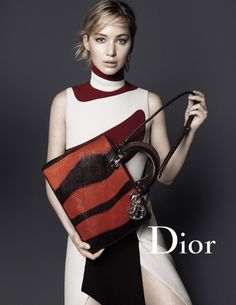 Actress Jennifer Lawrence fronts a brand new campaign Dior's fall-winter 2015 accessories campaign