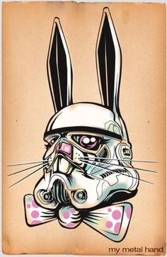 Awesome Stormtrooper Easter Bunny art #StarWars