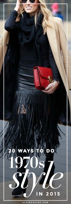 Trending '70s Boho: How to dress like a bohemian babe in the year 2015. From flares to fringe—here's how to modernize this look.