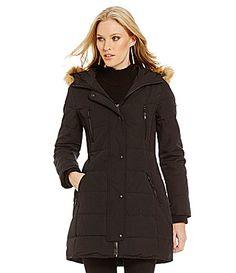 Guess FauxFurTrimmed Hooded Puffer Coat #Dillards
