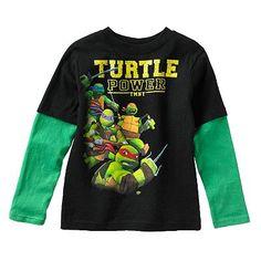 """Teenage Mutant Ninja Turtles """"Turtle Power"""" Mock-Layer Tee - Boys 4-7"""