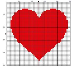 Mini Cross Stitch, Cross Stitch Heart, Cross Stitch Cards, Cross Stitch Alphabet, Cross Stitching, Cross Stitch Embroidery, Knitting Stitches, Knitting Patterns, Crochet Patterns