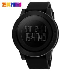 Genuine SKMEI Digital Men's Watches Military Sports Watches Silicone Wristband Waterproof LED Digital Watches For Men Clock Man Relogios Masculino