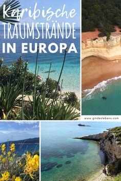 Karibisch anmutende Strände in Europa. Man muss nicht immer in die Karibik reisen, um den Anblick von türkisblauem und kristallklarem Wasser zu genießen. Diese Strände in Europa stehen der Karibik um nichts nach. Europa ist nicht nur kulturell bunt und abwechslungsreich, sondern hat auch eine Vielzahl an unterschiedlichen Stränden zu bieten. Die schönsten Strände in Europa und unsere 11 Tipps für Strandfans. www.gindeslebens.com #Strand #Europa #Strände #Traumstrände Backpacking, Camping, Destinations, Strand, Travel Inspiration, Wanderlust, Explore, World, Beach