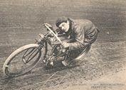 old board track racer illustration