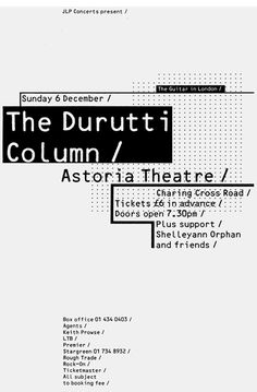 The Durutti Column poster – 8vo