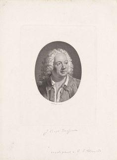 Hendrik D. Jzn Sluyter | Portret van Jean Baptiste Rousseau (1671-1741), Hendrik D. Jzn Sluyter, 1858 | Portret van de Franse schrijver en componist Jean Baptiste Rousseau (1671-1741), met nonchalant open hangend hemd.