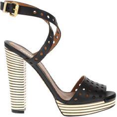 Fancy Fendi...Striped Sandals by Fendi #shoes #shoeintoxication #fendi #sandals