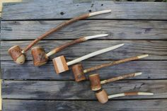 Carving a Pipe - How to bore out a pipe stem from a tree branch. Very cool!
