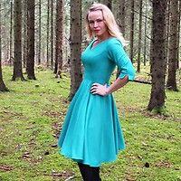 Retroklänning 50-tal Linnea Grön - Odd-Living.com