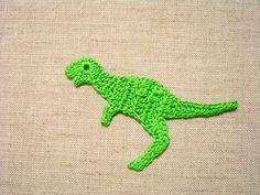 crochet dinosaur applique