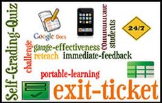 4 New Ways to Use Google Docs Forms with Students. Ideas for using forms for exit tickets, could also use for brainstorming.
