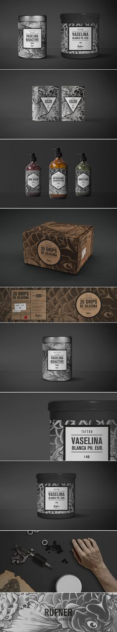 This Tattoo Care Line Is Directly Imitating Art With Its Packaging — The Dieline | Packaging & Branding Design & Innovation News