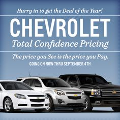 #Chevy Total Confidence Pricing at Graff Bay City!