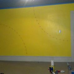 Softball wall for my daughter's bedroom!