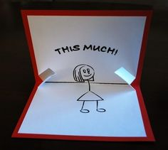I Love You...This Much Pop-up Card by PeadenScottDesigns on Etsy