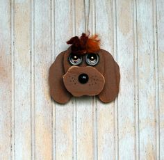 Dog Ornament Recycled Hand Made Ornament by KingsBenchCreations