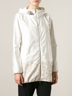 Moncler floral embroidered padded jacket