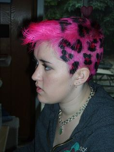 Like this pink leopard, but love it in bright yellow.
