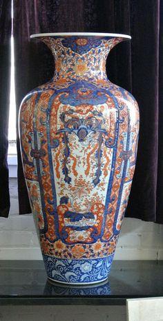 19th c. Meiji Japanese Imari Palace Vase