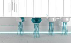 Millipede Bar Stool Design