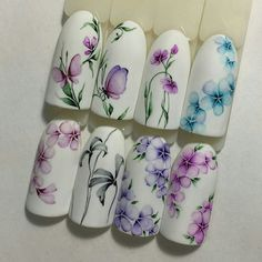 Trendy nails spring design colour ideas – My CMS Spring Nails, Summer Nails, Trendy Nails, Cute Nails, Hair And Nails, My Nails, Nail Art Fleur, Water Color Nails, Flower Nail Art